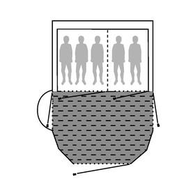 Outwell 3-Layer Insulate Carpet Akcesoria do namiotu Nevada MP szary